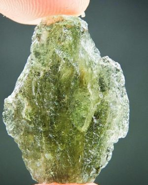 Olive Green Fine Shape Moldavite (2.51grams)