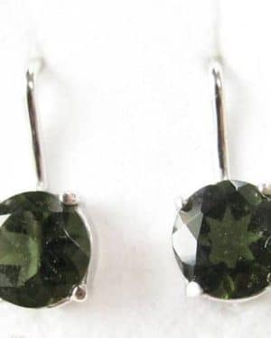 Authentic Moldavite Sterling Silver Earrings (2.0grams)