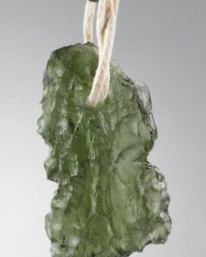Drilled Super Shape Basednice Moldavite Pendant