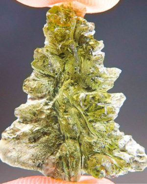 Quality A++ Olive Green Moldavite from Besednice with Certificate of Authenticity (1.96grams) 1