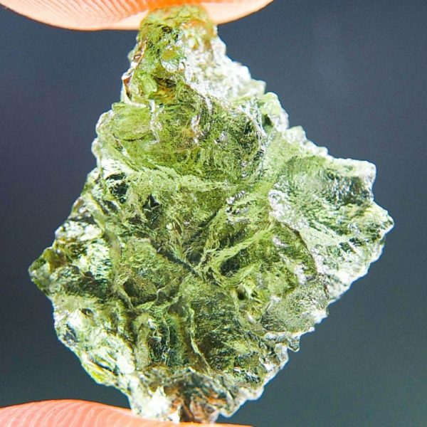 Quality A+ Glossy Moldavite from Besednice with Certificate of Authenticity (2.0grams) 1