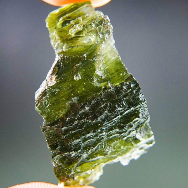 Quality A+ Rare Shape Moldavite with Certificate of Authenticity (7.62grams) 1