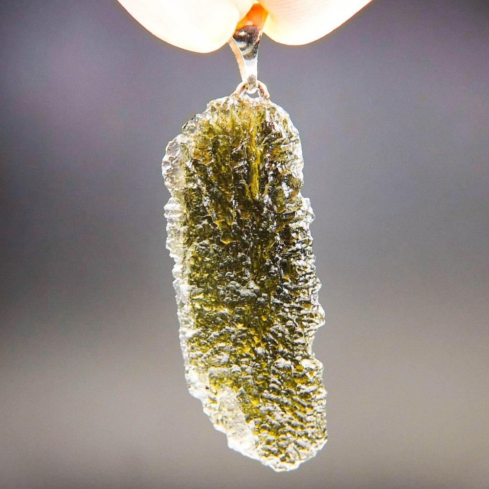 Quality A+ Glossy Moldavite Pendant with Certificate of Authenticity (4.22grams) 1
