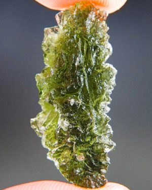 Quality A+/++ Bottle Green Moldavite from Besednice with Certificate of Authenticity (4.99grams) 2