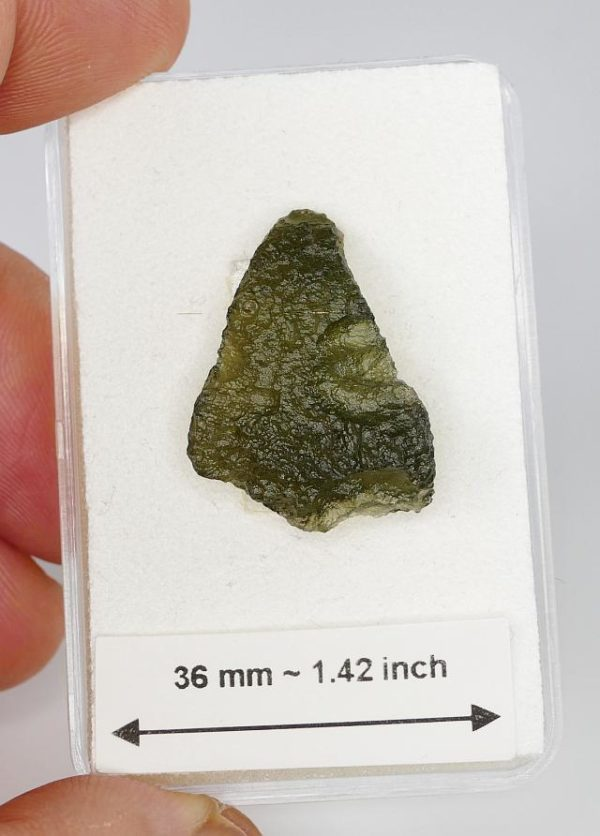 Small Raw Moldavite with Certificate of Authenticity (2.4grams) 2