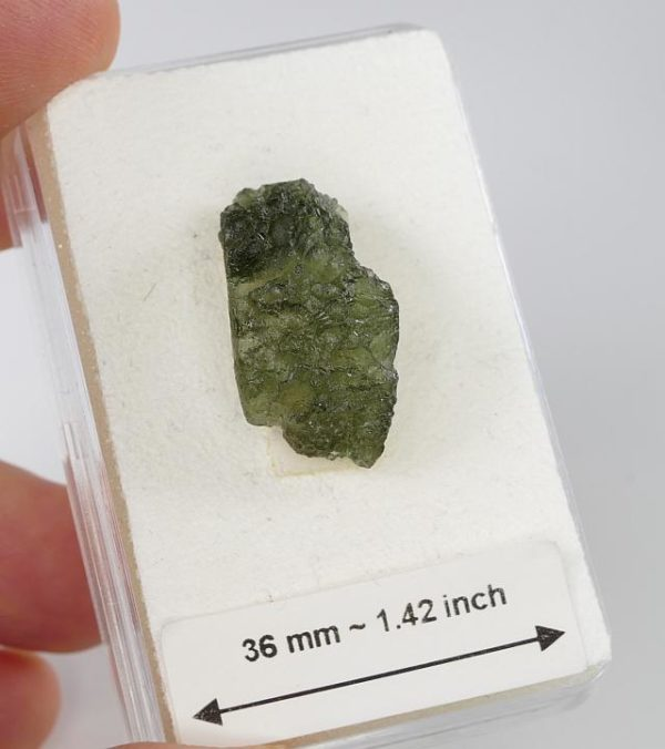 Authentic Raw Moldavite with Certificate of Authenticity (2.3grams) 2