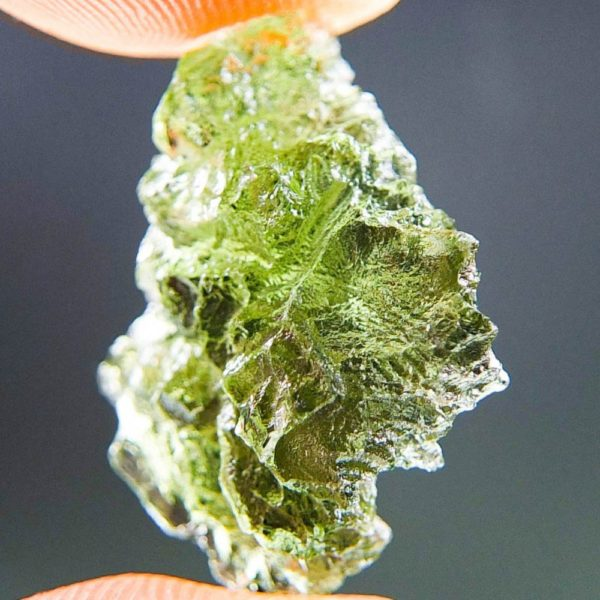 Quality A+ Glossy Moldavite from Besednice with Certificate of Authenticity (2.0grams) 2
