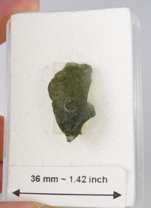 Authentic Small Moldavite With Certificate Of Authenticity (1.9grams) 2