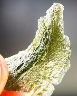 Quality A Uncommon Shape Moldavite with Certificate of Authenticity (9.75grams) 3
