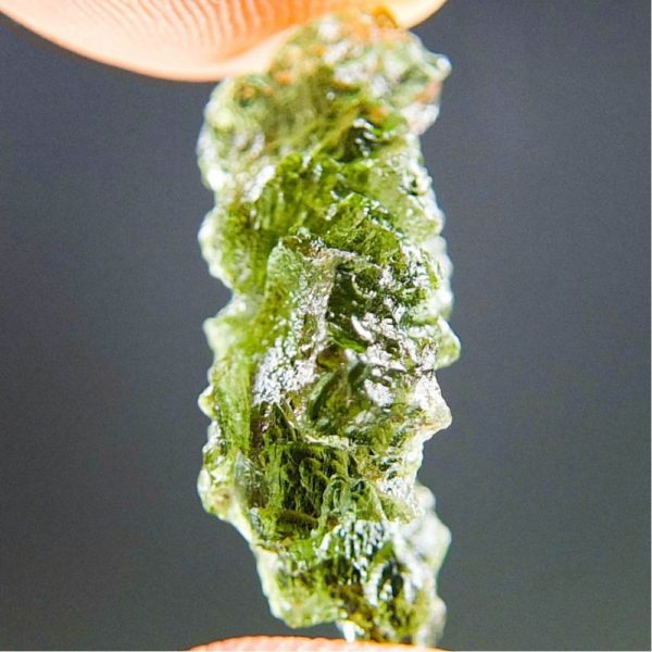 Quality A+ Glossy Moldavite from Besednice with Certificate of Authenticity (2.0grams) 3