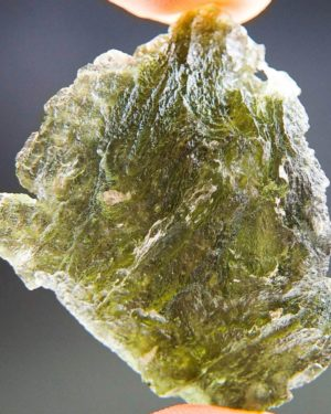 Quality A Uncommon Shape Moldavite with Certificate of Authenticity (9.75grams) 4