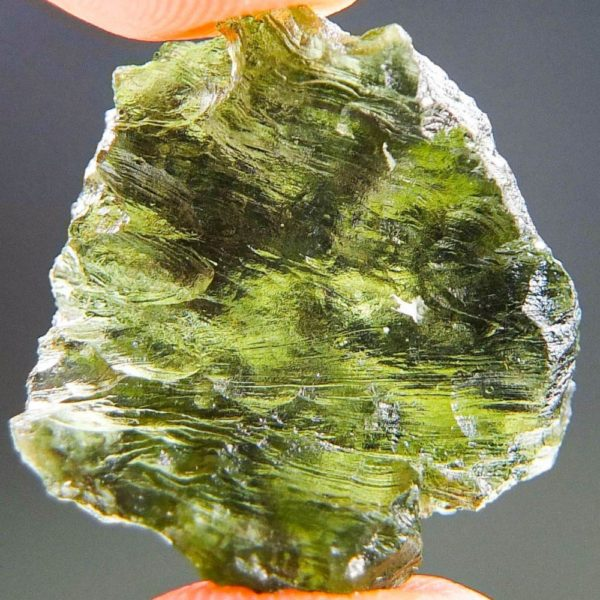 Quality A+ Shiny Moldavite from Besednice with Certificate of Authenticity (4.37grams) 4