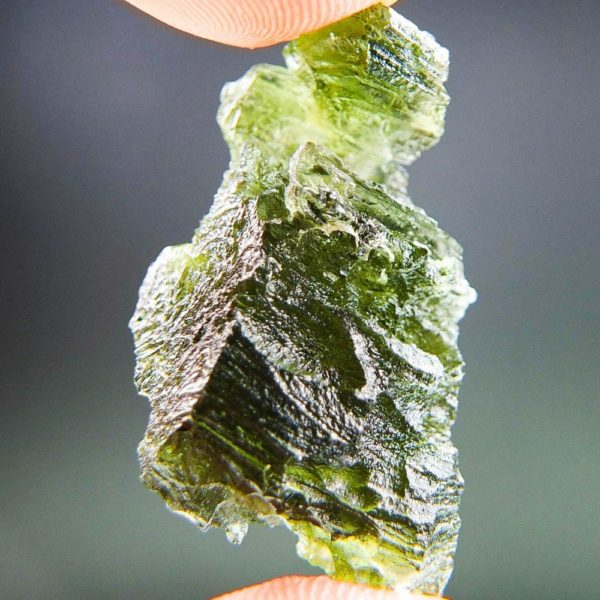 Quality A+ Rare Shape Moldavite with Certificate of Authenticity (7.62grams) 4